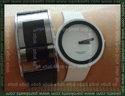 'no name' led watch, Issey Miyake watch