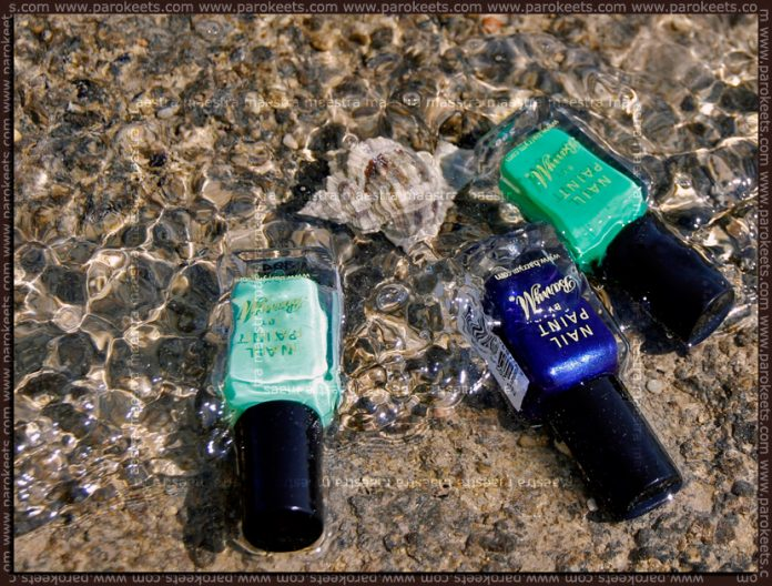 Barry M: Mint Green, Spring Green and Navy nail paints