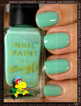 Swatch: Barry M - Mint Green (2 coats)