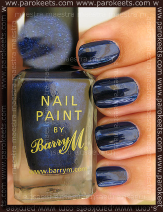 Swatch: Barry M - Navy (2 coats)