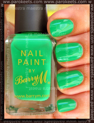 Swatch: Barry M - Spring Green (2 coats)