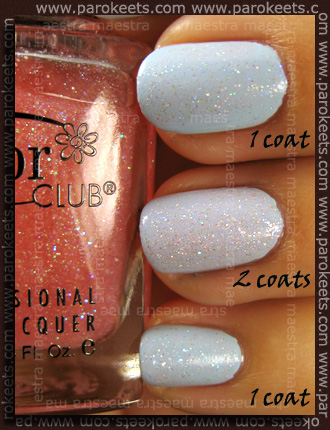 Color Club (Pardon My French): Hot Couture over Take Me To Your Chateau