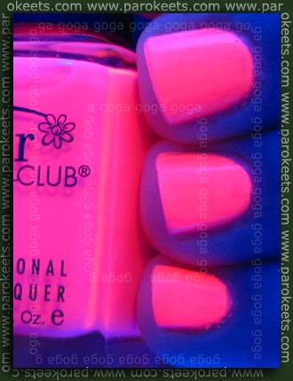 Color Club Popsicle under neon light