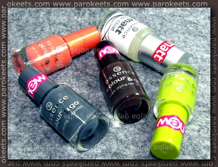 Essence: We Saw It First nail polishes (bottles)