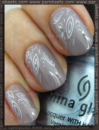 H&M - Grey Sky + China Glaze Sci-Fi + Fauxnad A05 konadicure