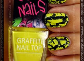 Swatch: Isa Dora - Graffiti Nails: Yellow Crew over MNY - 761