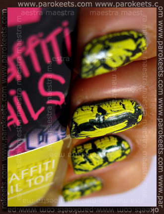 Swatch: Isa Dora - Graffiti Nails: Yellow Crew over MNY - 761
