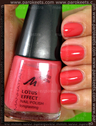 Swatch: Mahnattan - Wet Shot Look - 53U nail polish by Maestra