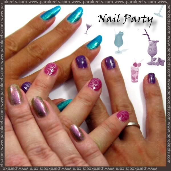 Nail polish party - group photo