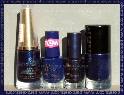 Collistar: Blu, Essence: Just Rockl It!, Essence: Rock Rebell, Catrice: It Blue My Mind, na soncu