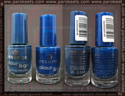 Essence - Colour & Go: Underwater - new vs. old