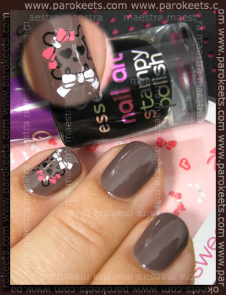 Essence: Most Wanted + Stampy IP with Nail Art Stampy Polish Stamp Me! Black + stickers Sweet Romance