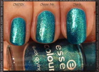 Comparison: Essence Choose Me! vs. Zoya Charla vs. OPI CMIYN swatch