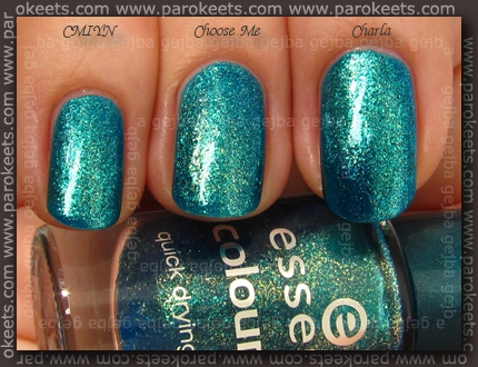Comparison: Essence Choose Me! vs. Zoya Charla vs. OPI Catch Me In Your Net swatch