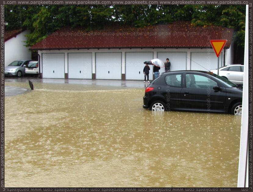 Flood in Ljubljana - parkplace