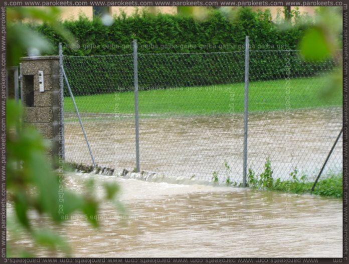 Flood in Ljubljana - fence