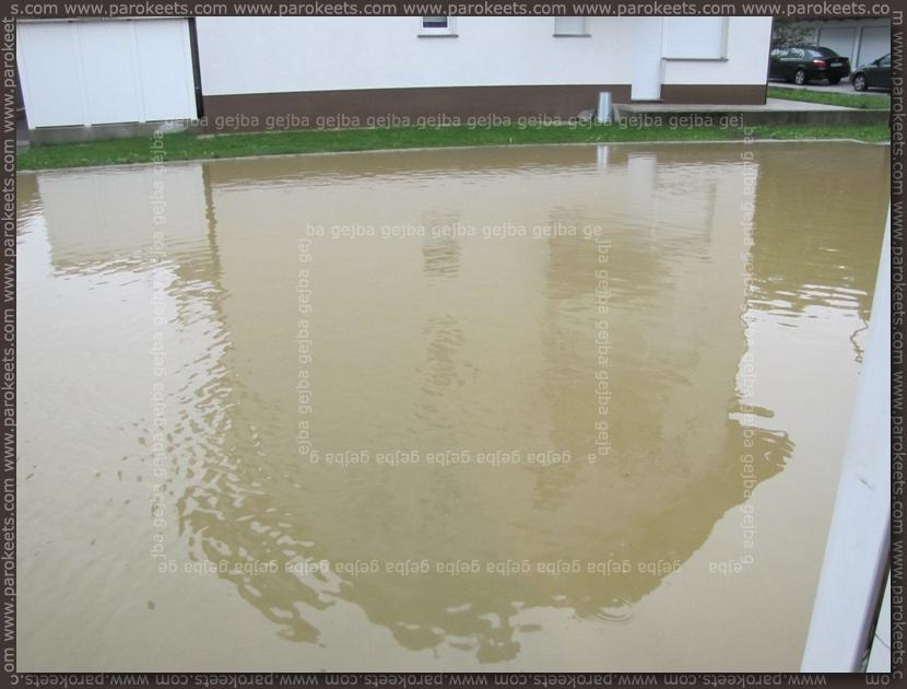 Flood in Ljubljana - reflection