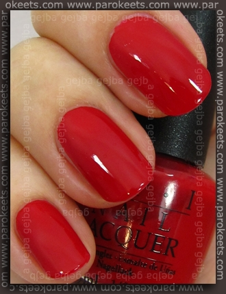 OPI Swiss - Color So Hot It Berns swatch by Parokeets