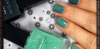 Ombre Manicure with Avon's Peppermint Leaf and Green With Envy