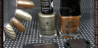 Swatch and comparison: Essence Metallics Trend Edition - Nothing Else Metals vs. Alessandro Go Magic! Twist - Bombastic Brown