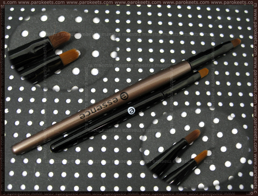 Essence Metallics Trend Edition: gel eyeliner brush comparison