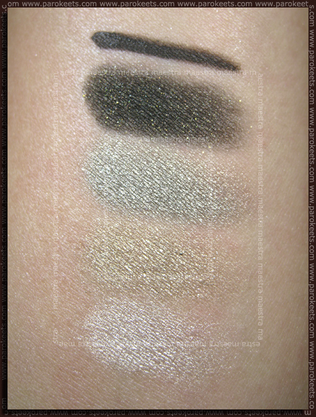 Swatch: Essence Metallics Trend Edition: quattro eyeshadow and gel eyeliner - Nothing Else Metals