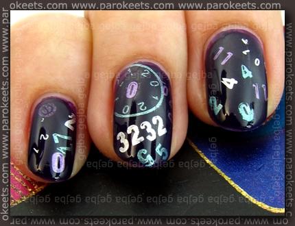 Essence: Purple Cherry + China Glaze: Sci Fi, Harmony, Adore konadicure