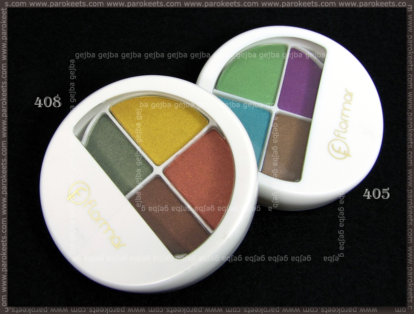 Flormar: Quartet Eye Shadow 405, 408 packaging