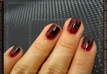 Halloween manicure: Bloody Bat by Maestra