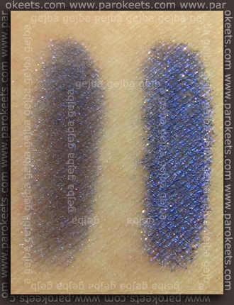 Swatch: Illamasqua: Pure Pigment - Alluvium (dry, over base)