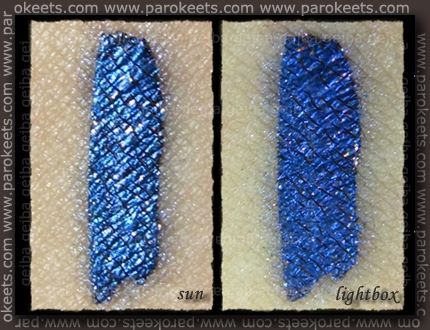 Swatch: Illamasqua: Pure Pigment - Alluvium over Precision Ink - Abyss