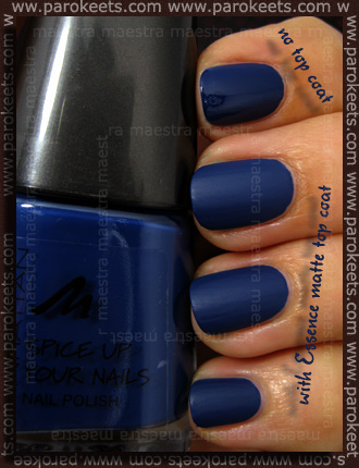 Swatch: Manhattan: Spice Up Your Nails - 77T (+ matte)