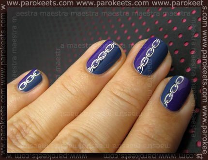 Manicure: Manhattan: Spice Up Your Nails - 77T (+ matte) + 610K + Metallic Chains nail stickers