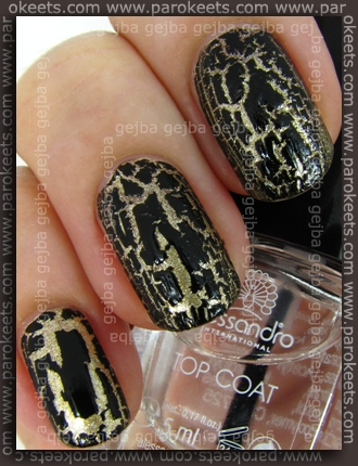 Alessandro Go Magic! - Royal Crash swatch with Top Coat