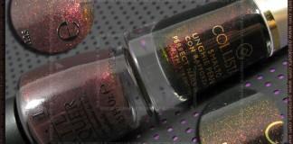 Comparison: OPI Burlesque - Tease-y Does It vs. Collistar - Melanzana Glitter