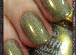 Gabrini 214 holographic polish swatch by Parokeets