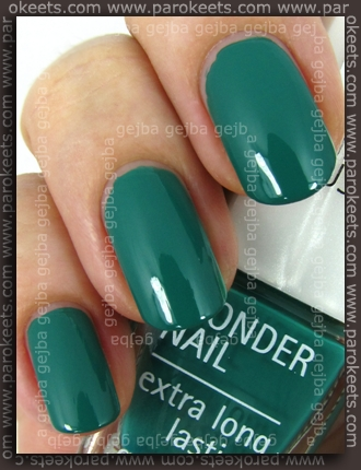 IsaDora Jaded swatch by Parokeets