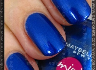 Maybelline Mini Colorama - Electric Blue swatch by Parokeets