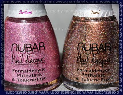 Nubar: Brilliant, Jewel bottles