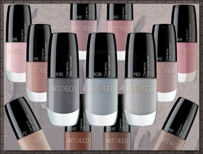 Artdeco Ceramic Nail Lacquer new shades for fall 2010