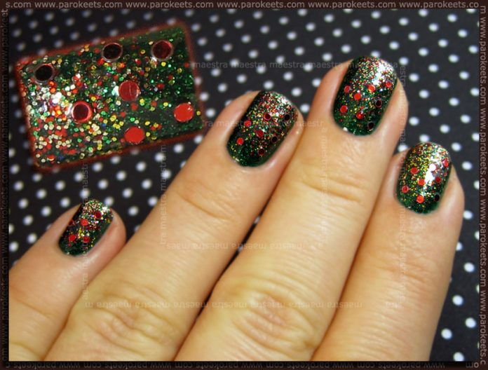 Christmas manicure by Maestra