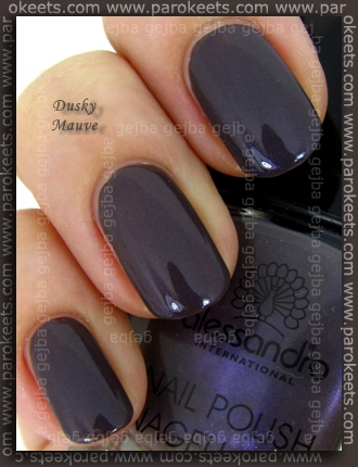 Comparison: Barry M Dusky Mauve vs. Alessandro Hypnotic swatch