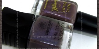 Comparison: Barry M Dusky Mauve vs. Alessandro Hypnotic bottle