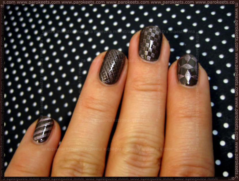 Swatch: New image plate by Essence (MAC - Style Clan + China Glaze - Robotika)