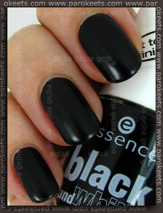 Essence Black and White: Black Out swatch