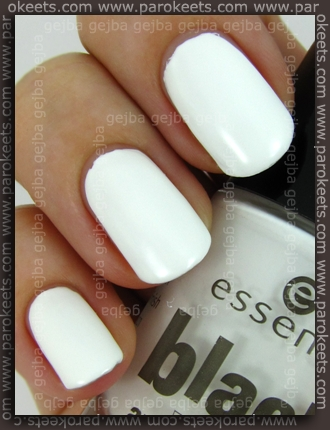 Essence Black and White: White Hype swatch