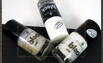 Essence Black and White polishes: Make Me Holo, White Hype, Black Out