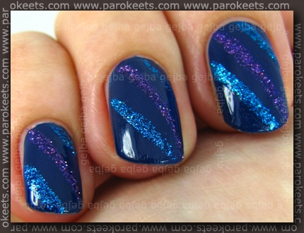Manhattan 77T + Golden Rose Nail Art polish: 111, 110