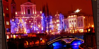 Festive decoration of Ljubljana, Slovenia (photo by Maestra)