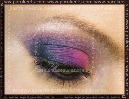Hot Pink and Purple make up by Maestra